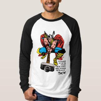 Thor Swinging Mjolnir Forward Tee Shirts