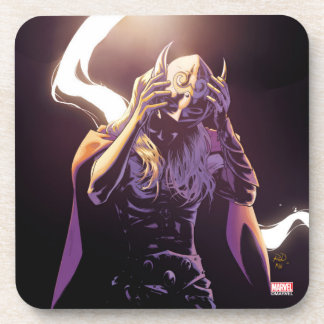 Thor Taking Off Helmet Beverage Coaster