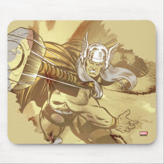 Thor Throwing Mjolnir Mouse Pad