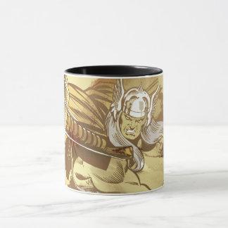Thor Throwing Mjolnir Mug