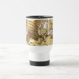 Thor Throwing Mjolnir Travel Mug
