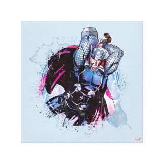 Thor Watercolor Character Graphic Canvas Print