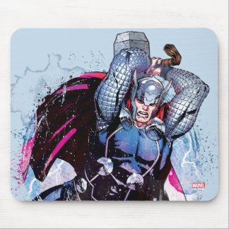 Thor Watercolor Character Graphic Mouse Pad