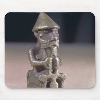 Thor with a hammer, statuette found in Iceland Mouse Pad