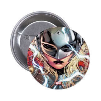 Thor With Lightning 2 Inch Round Button