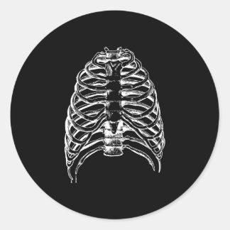 Thorax bones classic round sticker