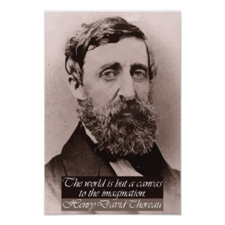 Thoreau '...canvas to the imagination' Quote Poster