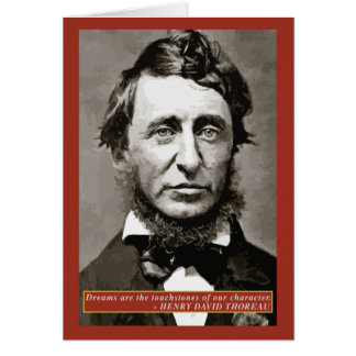 Thoreau - Dreams quote note card