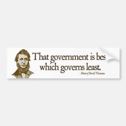 Thoreau Government Bumper Sticker