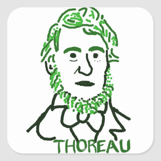 Thoreau-ly Green Square Sticker