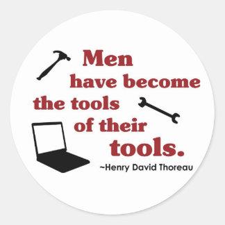 Thoreau on Tools Classic Round Sticker