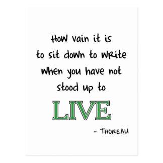 Thoreau on Writing Postcard
