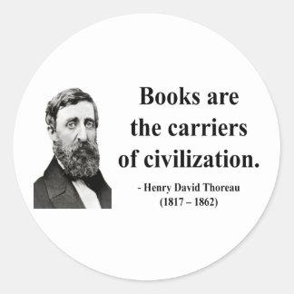 Thoreau Quote 9b Classic Round Sticker