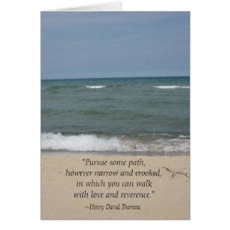 Thoreau Quote Beach Graduation Card