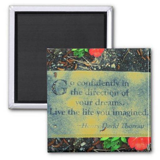 Thoreau Quote Magnet