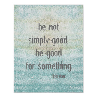 Thoreau quote poster shabby chic style