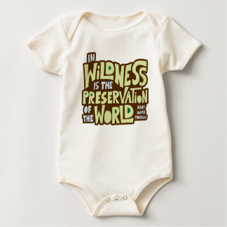 Thoreau Wildness Baby Bodysuit