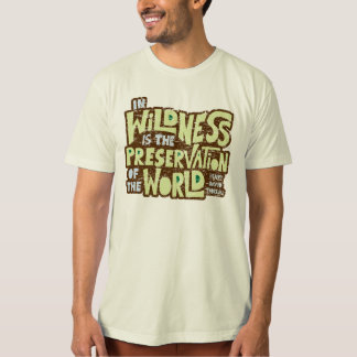 Thoreau Wildness (scratched) T-Shirt