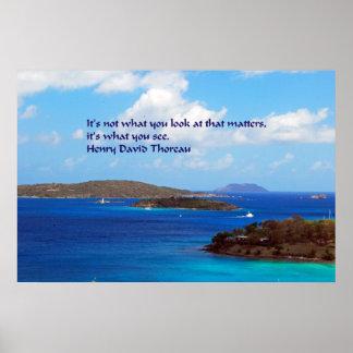 Thoreau wisdom poster