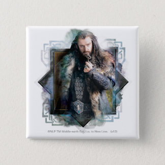 THORIN OAKENSHIELD™ Character Graphic 2 Inch Square Button