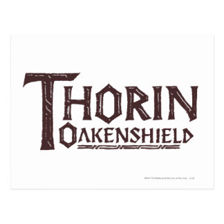 THORIN OAKENSHIELD™ Logo Brown Postcard
