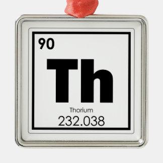 Thorium chemical element symbol chemistry formula metal ornament