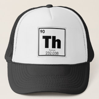 Thorium chemical element symbol chemistry formula trucker hat