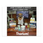 Thorium Thor God of Thunder Knowledge Dog Postcard