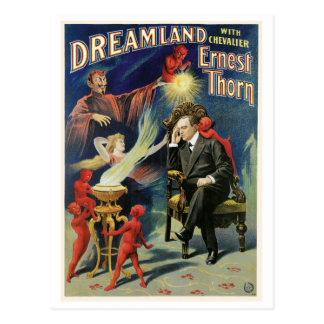 Thorn Magician ~ Dreamland Vintage Magic Act Postcard