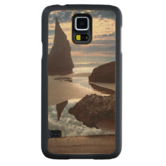 Thorn-Shaped seastack | Face Rock Wayside, OR Carved Maple Galaxy S5 Case