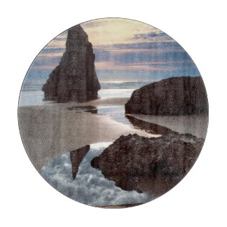 Thorn-Shaped seastack | Face Rock Wayside, OR Cutting Board
