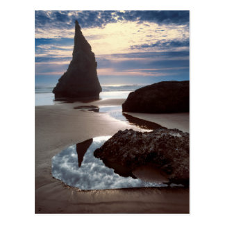 Thorn-Shaped seastack | Face Rock Wayside, OR Postcard