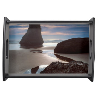 Thorn-Shaped seastack   Face Rock Wayside, OR Serving Tray