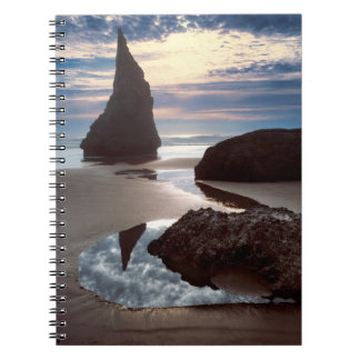 Thorn-Shaped seastack | Face Rock Wayside, OR Spiral Notebook