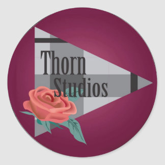 Thorn Studios stickers! Classic Round Sticker