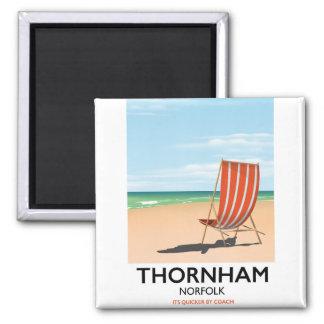 Thornham Norfolk seaside travel poster. Magnet