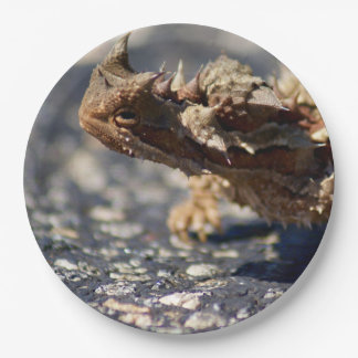 "Thorny Devil Lizard, Outback Australia, 9"" Photo 9 Inch Paper Plate"