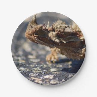 "Thorny Devil Lizard, Outback Australia, Photo 7"" 7 Inch Paper Plate"