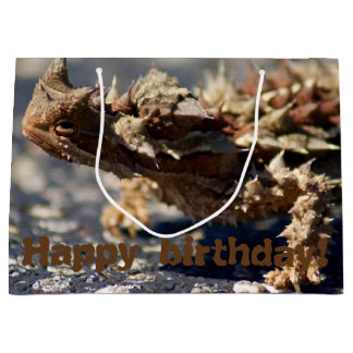 Thorny Devil Lizard, Outback Australia, Photo Large Gift Bag