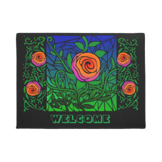Thorny Roses Door Mat