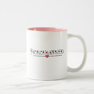 Thoroughbred Hearts Two-Tone Coffee Mug