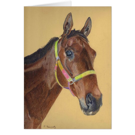 Thoroughbred Horse Greeting Card