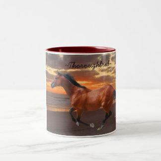 Thoroughbred Horse Sunrise Mug
