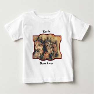 Thoroughbred horses running in a bunch baby T-Shirt