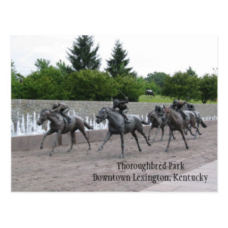 Thoroughbred Park Downtown Lexington, ... Postcard