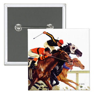 Thoroughbred Race 2 Inch Square Button