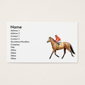 Thoroughbred Race Horse Business Card