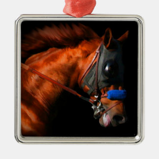 Thoroughbred Race Horse Metal Ornament
