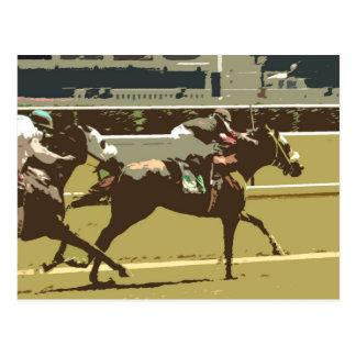 thoroughbred race horse postcard