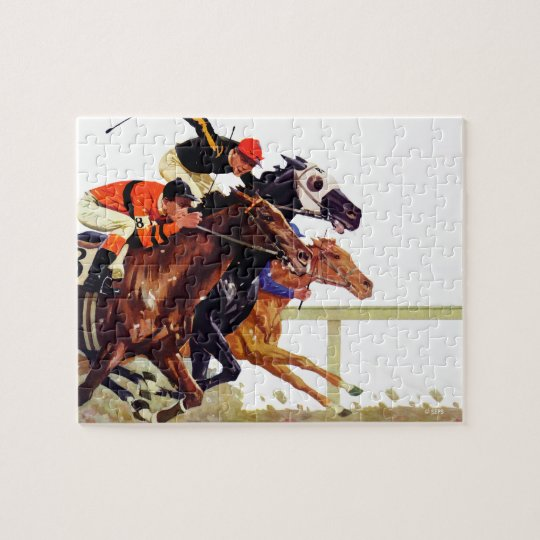 Thoroughbred Race Jigsaw Puzzle